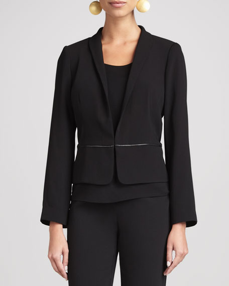 Tropical Suiting Jacket, Black