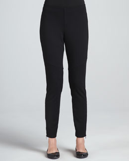 Eileen Fisher Ponte Skinny Ankle Zip Pants