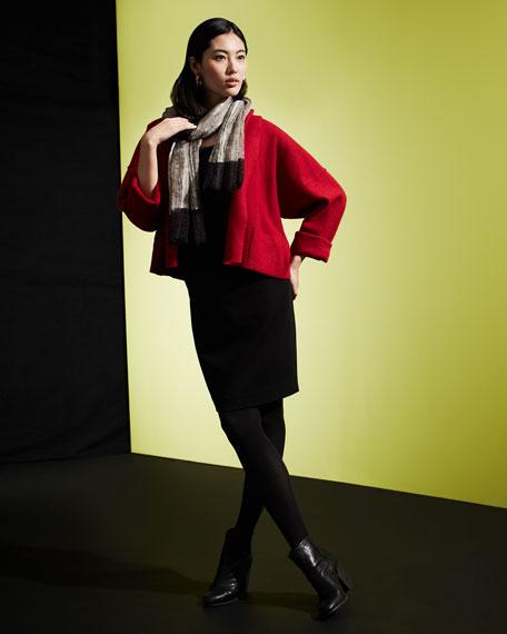 Boiled Wool Kimono Jacket, Women's