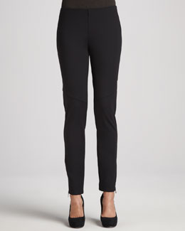 Eileen Fisher Ponte Skinny Ankle-Zip Pants