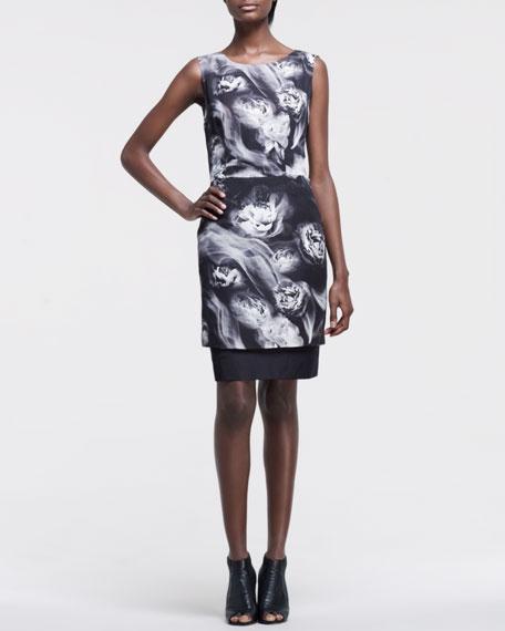 Smoke-Print Organza Dress