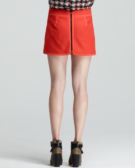 Snap-Pocket Short Bomber Skirt