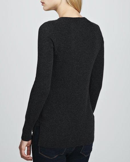 Neon Intarsia Hi-Lo Sweater