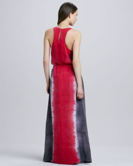 Tie-Dye Maxi Tank Dress, Ruby Red