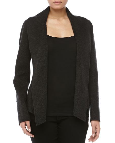 Shawl-Collar Jacket, Charcoal