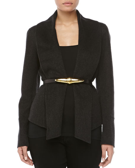 Shawl-Collar Jacket, Charcoal