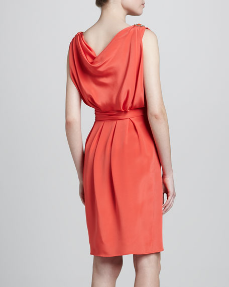 Sleeveless Draped Dress