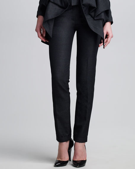 Narrow Cuffed Pants