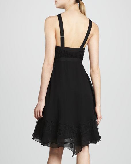 Halter Dress with Hi-Lo Flounce Hem
