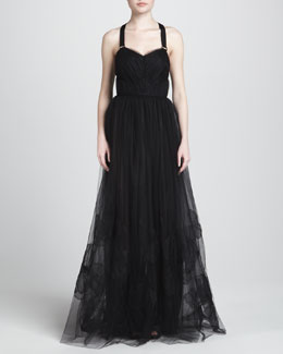 Jason Wu Tulle Gown with Halter Harness