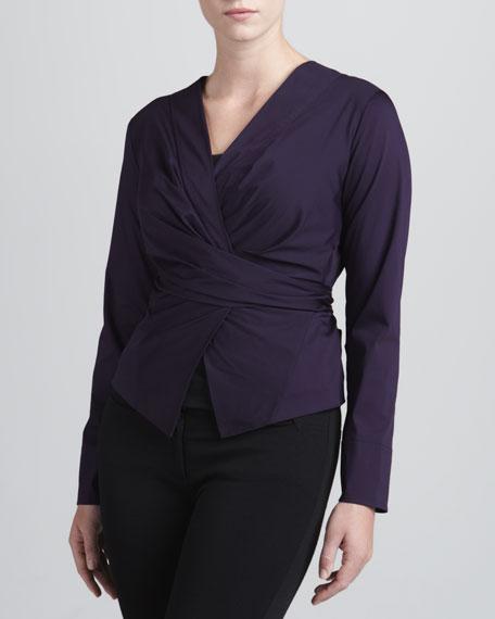 Wrap & Tie Shirt, Wild Iris