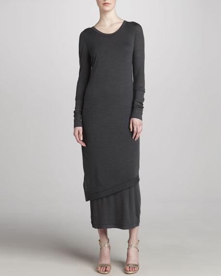 Melange Jersey Maxi Dress, Mineral