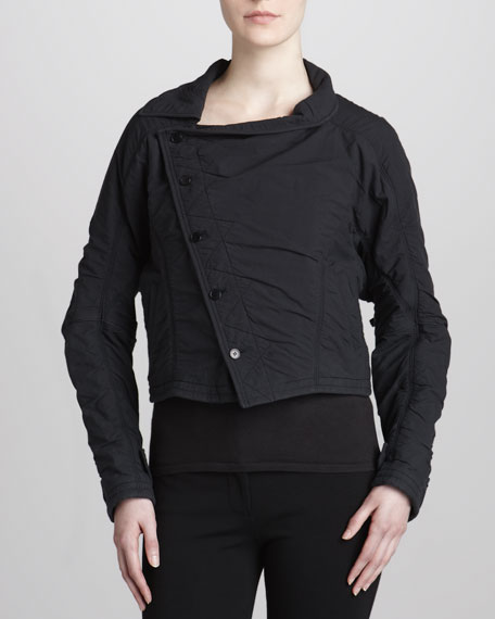 Asymmetric Button-Front Jacket