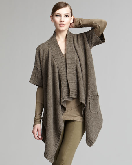 Draped Open Cardigan