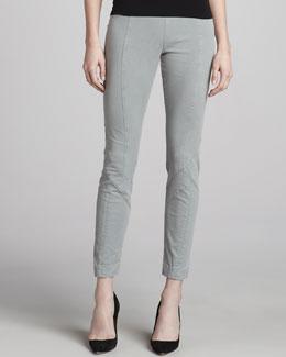Donna Karan Stretch-Twill Skinny Pants, Graystone