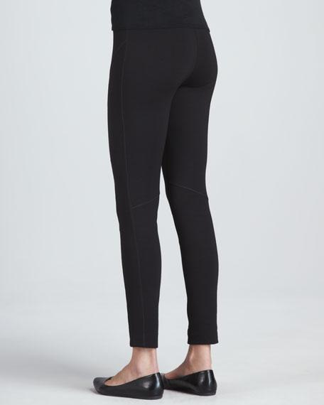 Front-Seam Leggings, Black