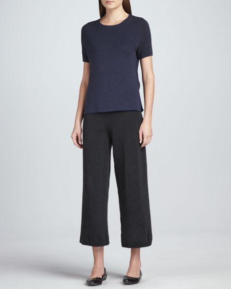 Wide-Leg Knit Pants, Women's