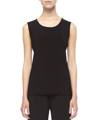 Caroline Rose Stretch-Knit Long Tank