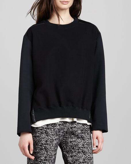 Mix-Fabric Sweatshirt