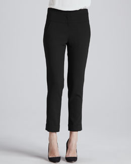 Halston Heritage Slim Ankle Suit Pants
