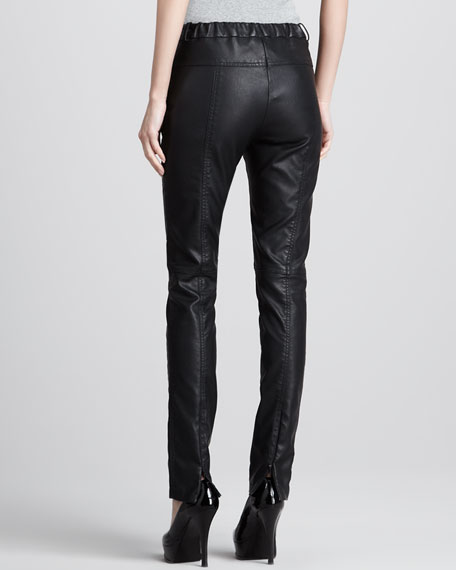 Skinny Faux-Leather Pants