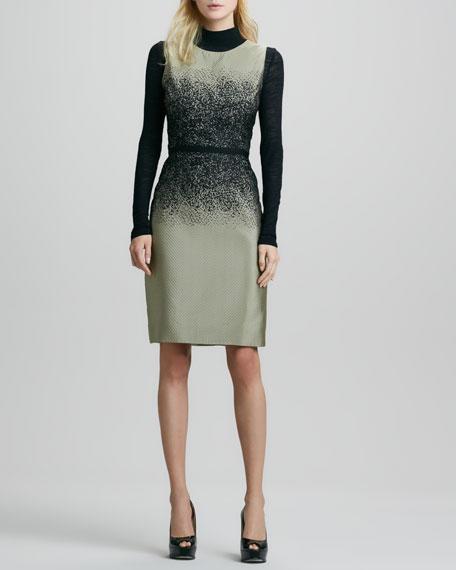 Ombre Jacquard Sleeveless Dress