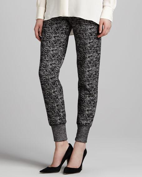 Tweed Tapered Sweatpants