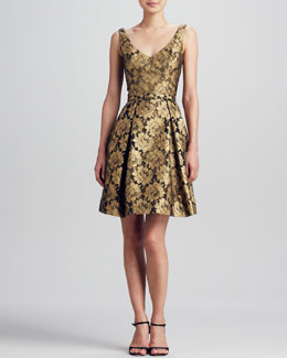 Theia Floral Lace Party Dress