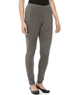 Donna Karan Heathered Jersey Leggings