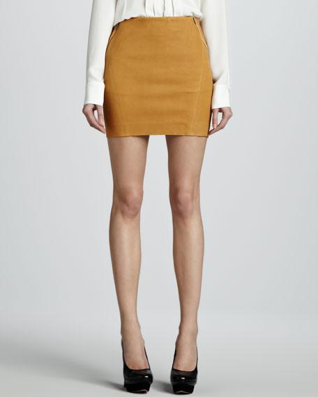 Keila Leather Miniskirt