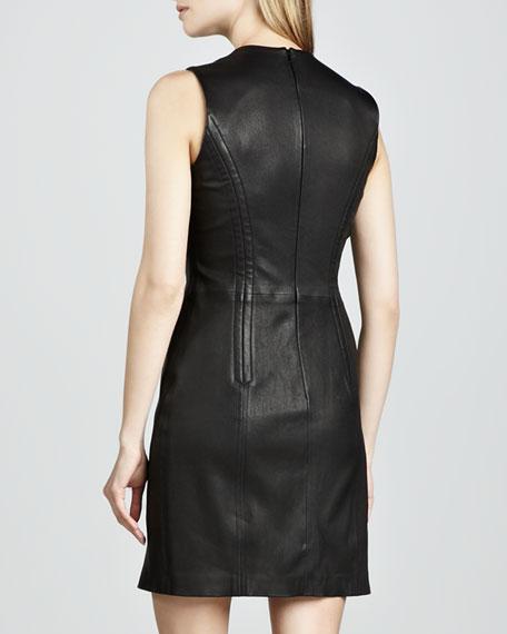 Fraylan Leather Zipper Dress