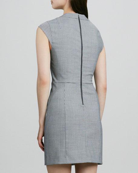 Orinthia Houndstooth Dress, Black/White