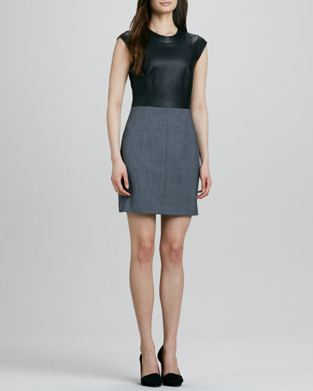 Orinthia C Dress with Leather Bodice