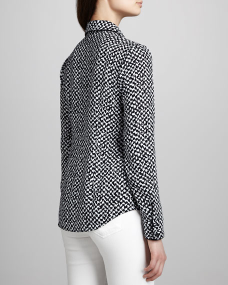Cully Printed Button-Down Blouse