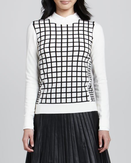 Tommie Check-Front Sweater