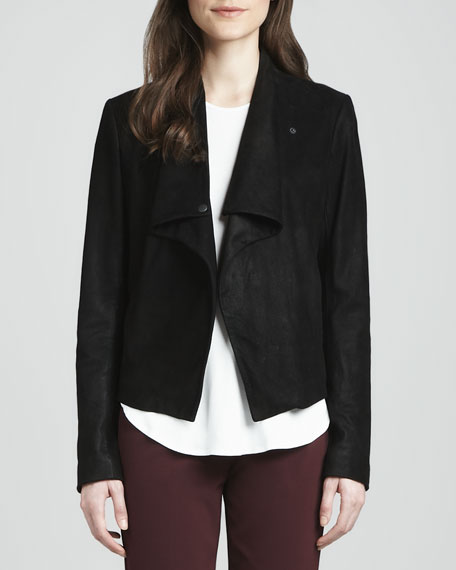 Kenza Draped Suede Jacket