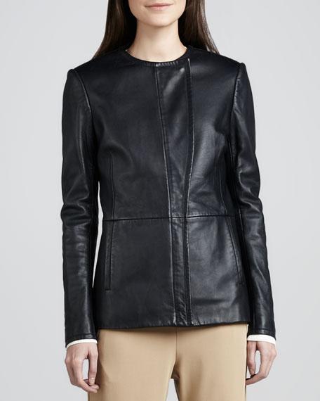 Jeleta Leather Blazer