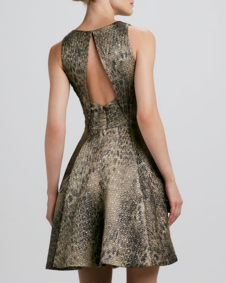 Animal-Print Fit-and-Flare Dress