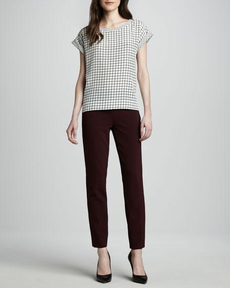 Belisa Stretch Cotton-Nylon Ankle Pants