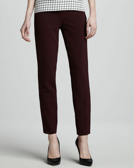 Belisa Stretch Cotton-Nylon Ankle Pants