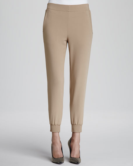 Persha Fitted Ponte Track Pants