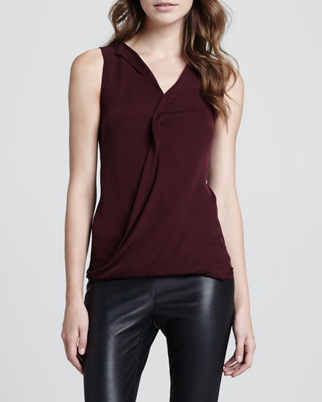 Parlier Sleeveless Draped Blouse