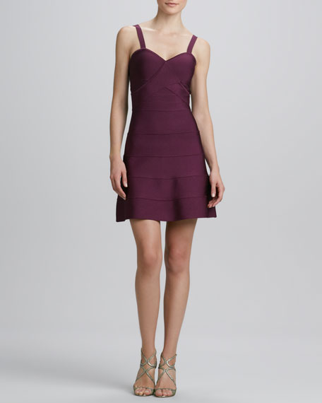 A-line Knit Cocktail Dress