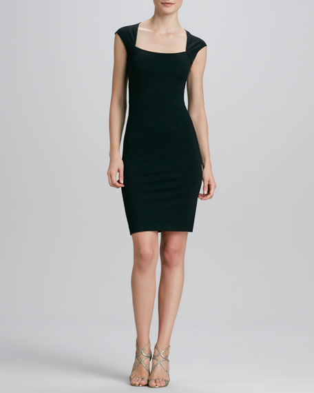Bow-Back Sheath Dress