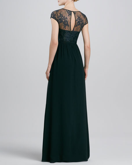 Lace Illusion Bust Gown