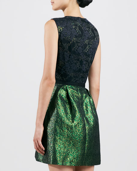 Lace-Bodice Combo Party Dress