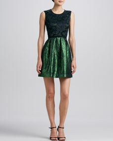 ERIN erin fetherston Lace-Bodice Combo Party Dress