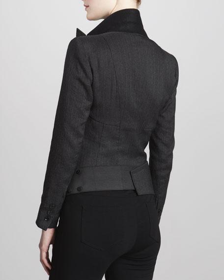 Pinstripe Bodysuit Jacket