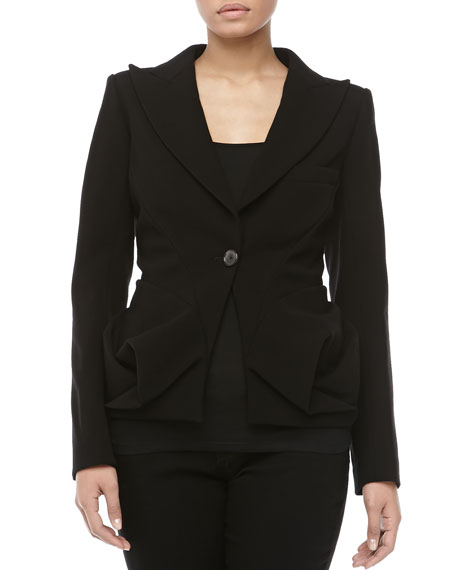 One-Button Folded Hip Jacket