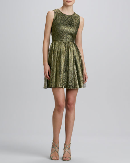 Open-Back Lace Cocktail Dress